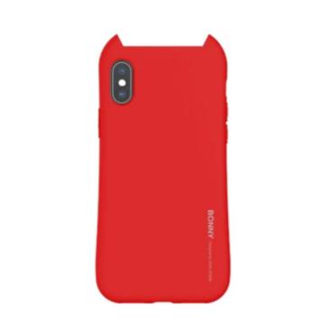 Hana Bonny piros füles TPU szilikon tok, Apple iPhone X/XS