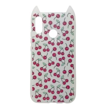 Hana Pop Jelly Fehér Cseresznyés TPU szilikon tok, Samsung Galaxy S9 SM-G960