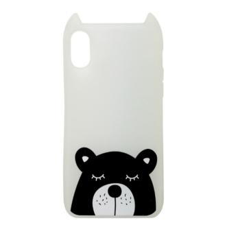 Hana Pop Jelly Fehér Macis TPU szilikon tok, Apple iPhone X/Xs