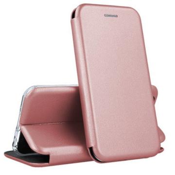 Rose gold oldalra nyíló mágneses flip tok  Apple iPhone 12 Pro