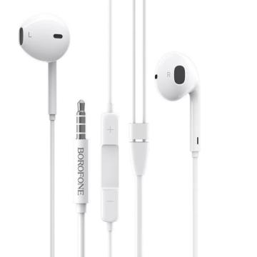 Borofone BM30 Original sztereo vezetékes fülhallgató 3,5 jack - fehér
