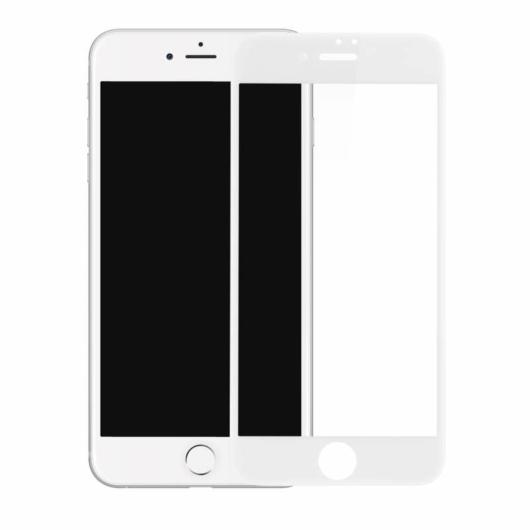 Baseus teljes kijelzős, ívelt szélű, edzett üveg kijelzővédő fólia Apple iPhone SE 2020 - fehér