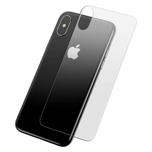 Baseus 0.3 mm edzett üveg hátlapvédő fólia Apple iPhone Xs Max