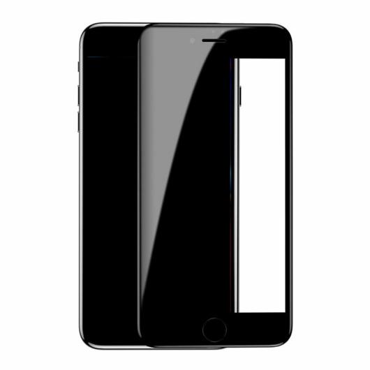 Baseus Diamond Body teljes kijelzős, edzett üveg kijelzővédő fólia Apple iPhone 8 - fekete