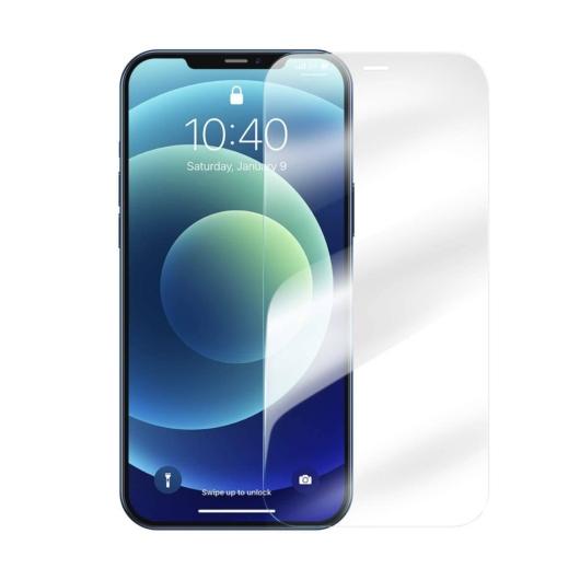 Baseus Super Porcelain Crystal edzett üvegfólia - 2db/csomag, iPhone 12 Pro Max