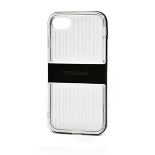 Caseology Bordázott Szilikon (TPU) Tok fekete Műanyag Betéttel iPhone 7/8/SE 2020
