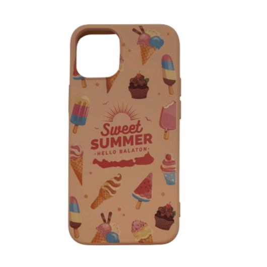 Cellect krém színű, fagyi TPU Szilikon Tok, Apple iPhone 12/12 Pro