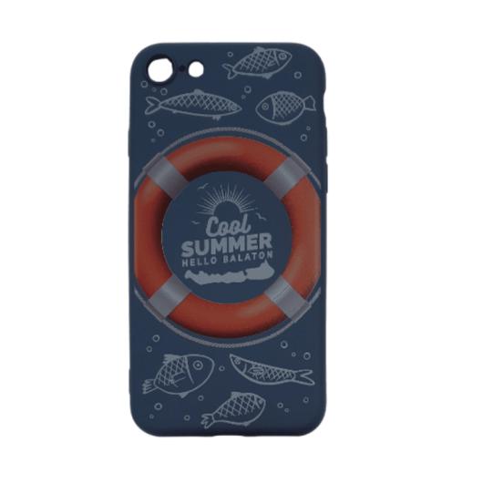 Cellect kék, mentőöv mintás TPU Szilikon Tok, Apple iPhone 7/8/SE 2020