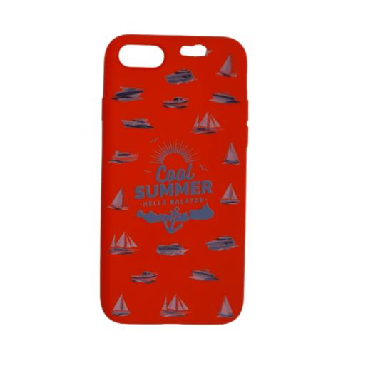 Cellect piros, hajó mintás TPU Szilikon Tok, Apple iPhone 7/8/SE 2020