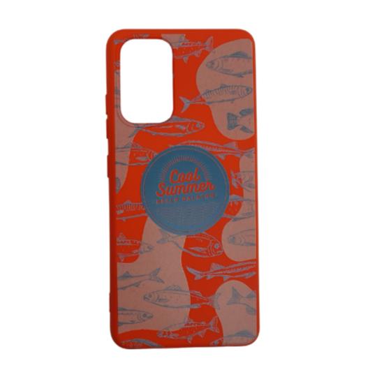 Cellect piros,hal mintás TPU Szilikon Tok, Samsung Galaxy A52 SM-A526B