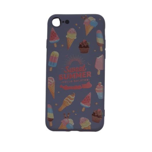 Cellect szürke, fagyi mintás TPU Szilikon Tok, Apple iPhone 7/8/SE 2020