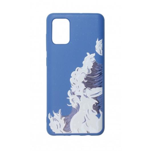 Cellect GoGreen Lebomló, Komposztálható tok, kék, tenger Samsung Galaxy A71 SM-A715F