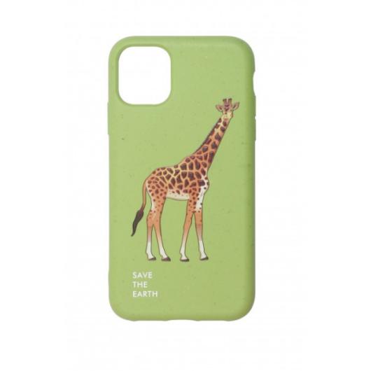 Cellect GoGreen Lebomló, Komposztálható tok, zöld, zsiráf Apple iPhone 12 mini
