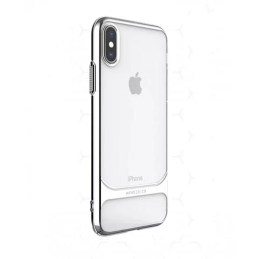 Hana Ceramic Case Ezüst PC (műanyag) tok, iPhone X/Xs