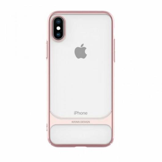 Hana Ceramic Case Rose Gold Rózsaszín PC (műanyag) tok, iPhone X/XS