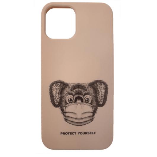 Cellect bézs maszkos koala mintájú TPU szilikon tok, iPhone 12 Mini