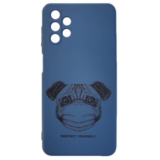 Cellect kék maszkos kutya mopsz mintájú TPU szilikon tok, Samsung Galaxy A32 5G SM-A326B