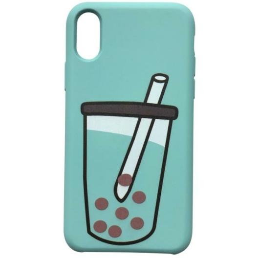 Cellect Bubble Tea Mintás TPU Szilikon Tok, Apple iPhone X/Xs