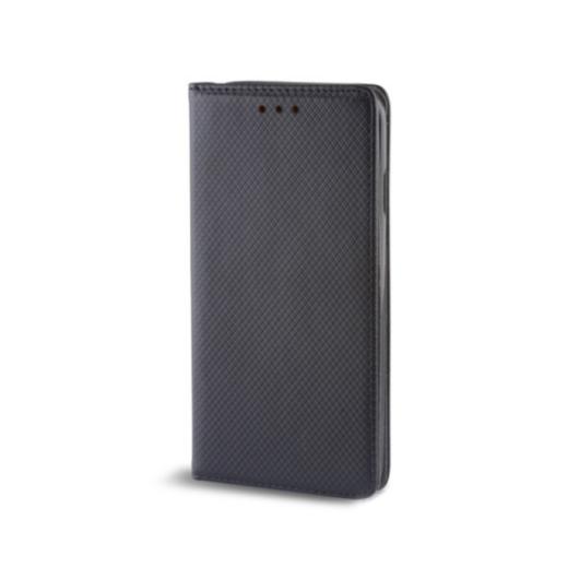 Fekete oldalra nyíló mágneses flip tok Samsung Galaxy A21s SM-A217F
