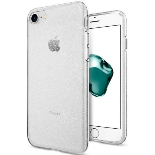 Átlátszó csillámos  TPU szilikon tok Apple iPhone 12 Mini