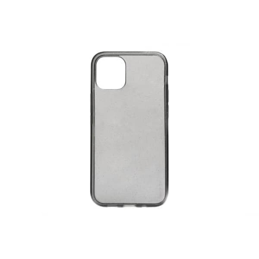 Fekete csillámos  TPU szilikon tok Apple iPhone 12