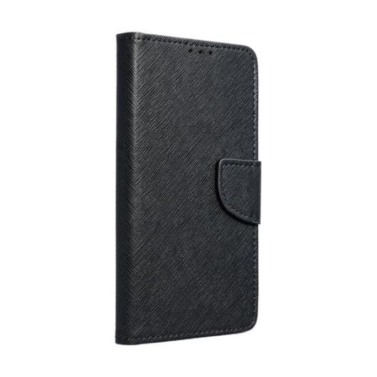 Hempi műbőr fekete oldalra nyíló mágneses flip tok, Samsung Galaxy A40, SM-A405F
