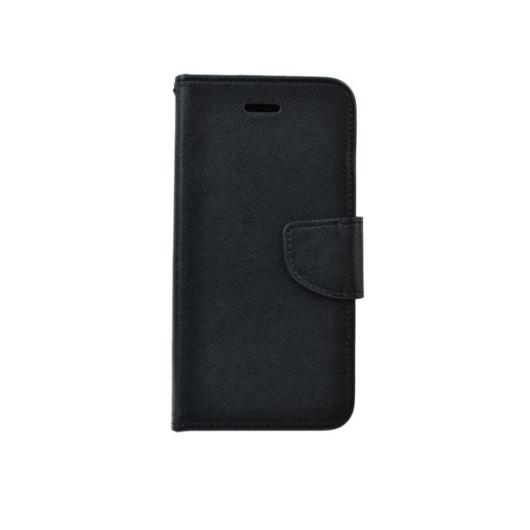 Hempi műbőr fekete oldalra nyíló mágneses flip tok, Huawei Mate 20 Lite