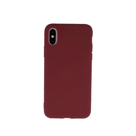 Hempi Second Skin Burgundi Vörös Szilikon TPU Tok iPhone X/Xs