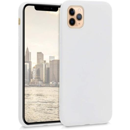 Hempi Second Skin Fehér Szilikon TPU Tok iPhone 11