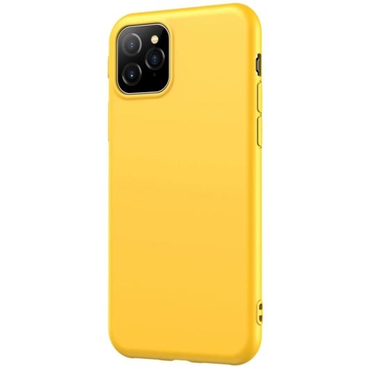 Hempi Second Skin Sárga Szilikon TPU Tok iPhone 11