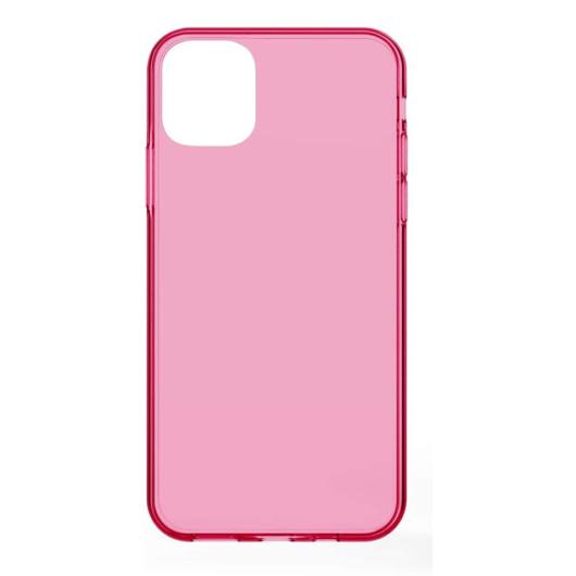 Neon Pink Áttetsző TPU szilikon tok, Samsung Galaxy A21s SM-A217F