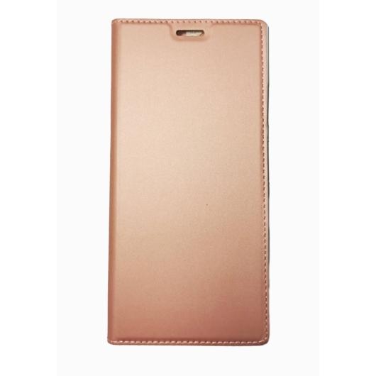 Műbőr rose gold oldalra nyíló flip tok, Samsung Galaxy S20 Ultra 5G SM-G988
