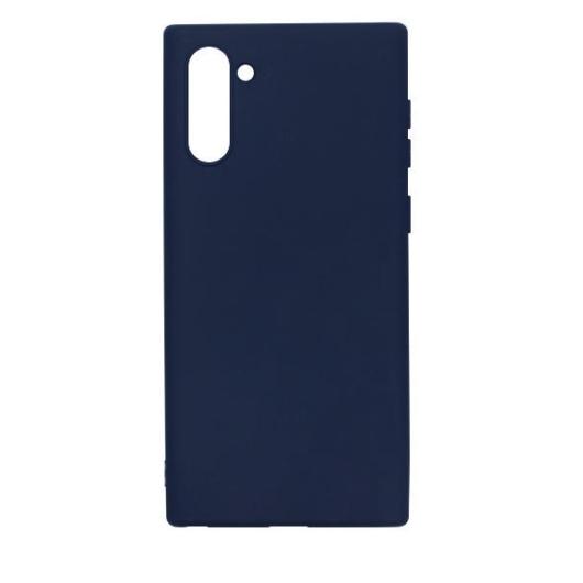 Samsung utángyártott Sötétkék Szilikon hátlapi TPU tok, Samsung Galaxy Note 10, SM-N970