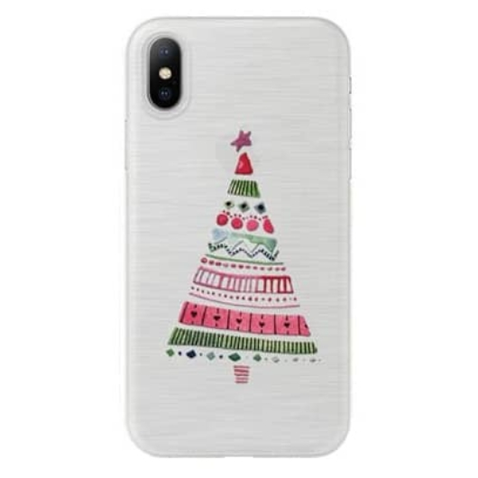 Áttetsző karácsonyfa mintás karácsonyi TPU szilikon tok Apple iPhone X