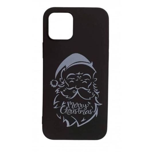 Cellect Fekete Mikulásos karácsonyi mintás TPU szilikon tok Apple iPhone 12 Pro Max