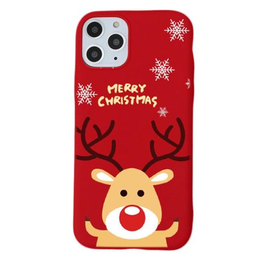 Piros rénszarvasos karácsonyi mintás TPU szilikon tok Samsung Galaxy S8 Plus SM-G955