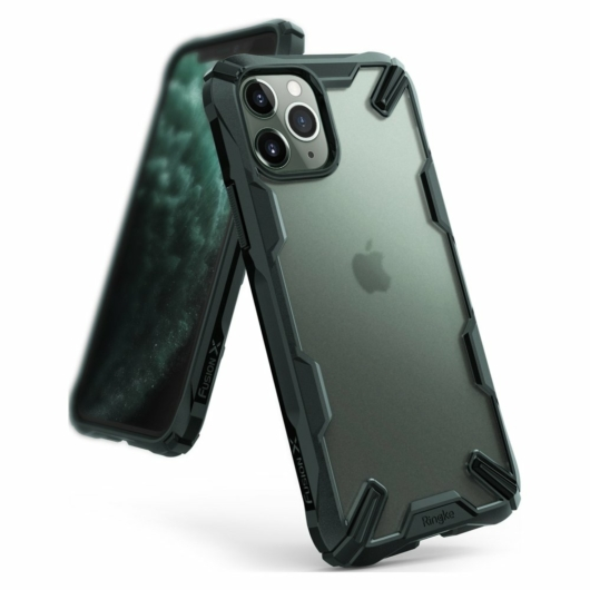 Ringke Fusion X Matte zöld Defender tok, Apple iPhone 11