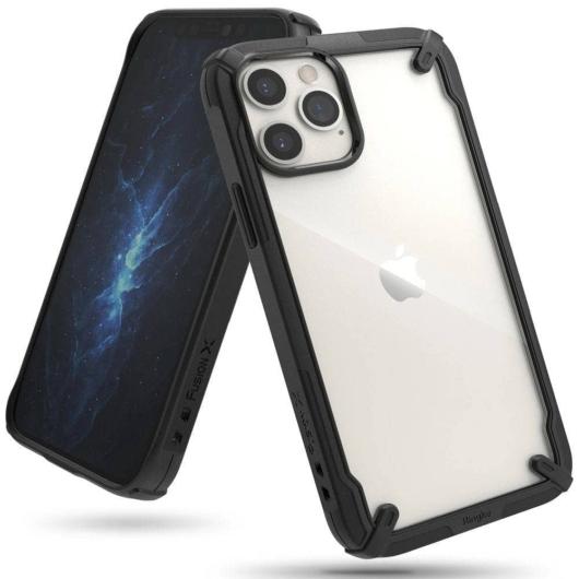 Ringke Fusion X fekete Defender tok, Apple iPhone 12/12 Pro