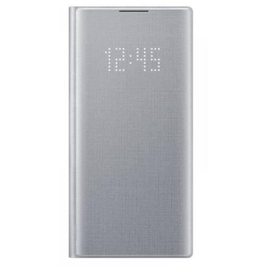 Samsung Smart Led View Cover tok ledes fedéllel - ezüst, Samsung Galaxy Note 10 Plus SM-N975