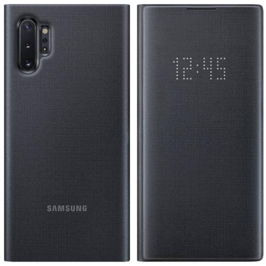 Samsung Smart Led View Cover tok ledes fedéllel - fekete, Samsung Galaxy S20 Plus, SM-G985