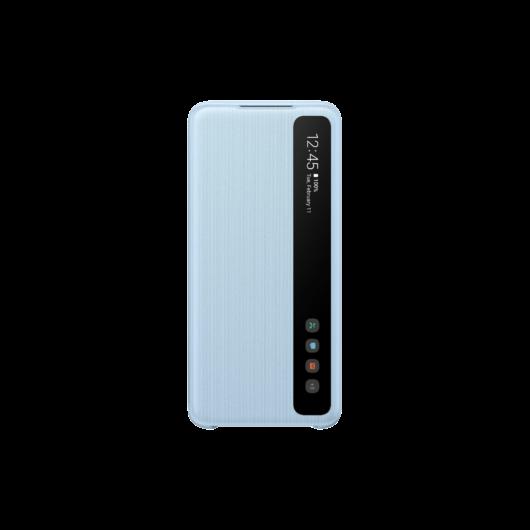 Samsung Smart Clear View Gyári flip tok - kék, Samsung Galaxy S20 Plus SM-G985
