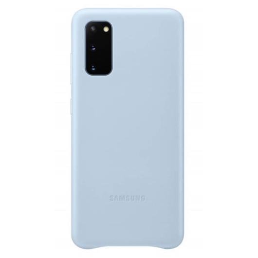 Samsung Gyári Kék PC műanyag tok bőr borítással Samsung Galaxy S20 Ultra 5G SM-G988