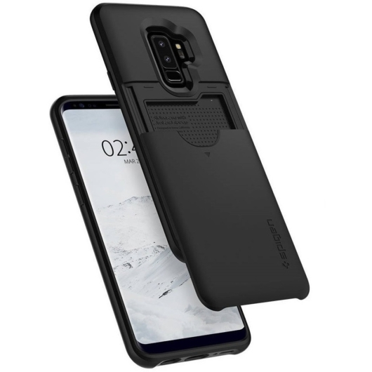 Spigen Slim Armor CS Fekete ütésálló PC (műanyag) tok, Samsung Galaxy S9 SM-G960