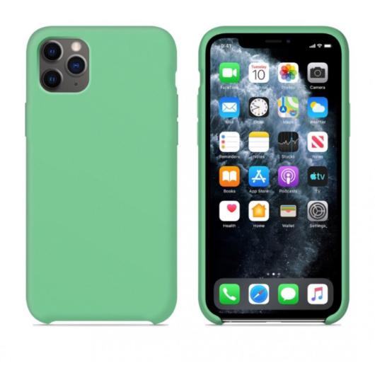 Apple Utángyártott Fodormenta Szilikon hátlapi TPU tok, iPhone X/Xs