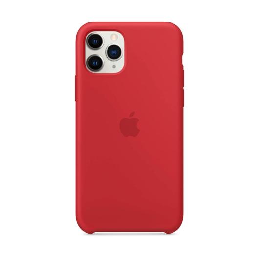 Apple Piros Gyári Szilikon hátlapi TPU tok, iPhone 12/12 Pro