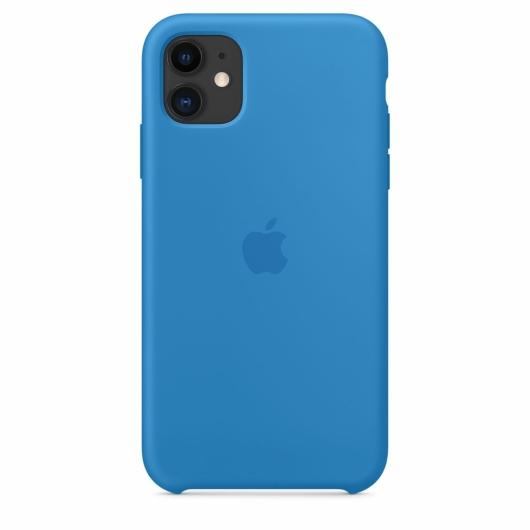 Apple Surf Blue Gyári Szilikon hátlapi TPU tok, iPhone 12/12 Pro