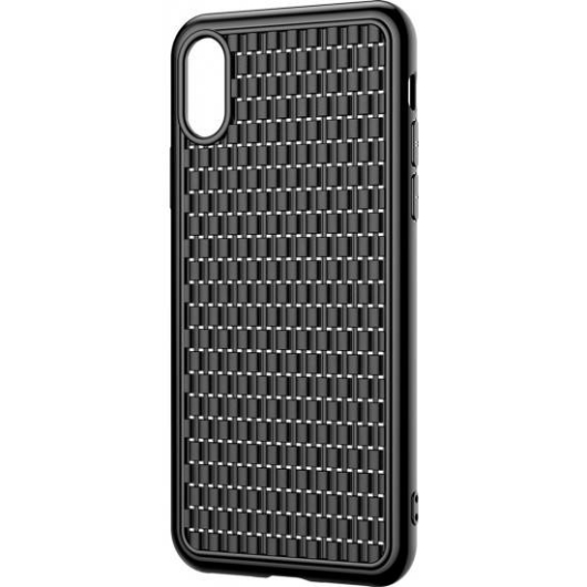 Baseus Weaving Fekete TPU Szilikon tok, iPhone Xr