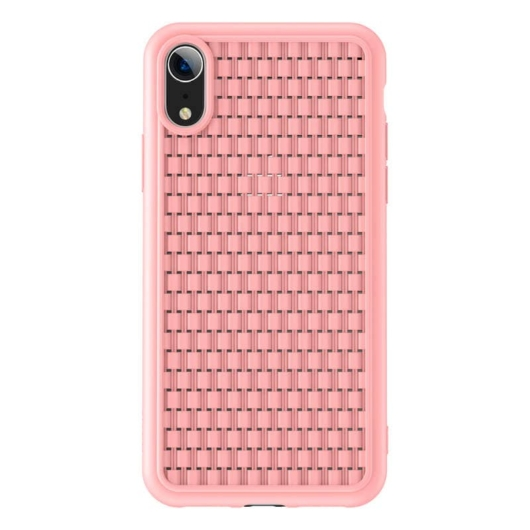 Baseus Weaving pink TPU Szilikon tok, iPhone Xr
