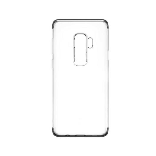 Baseus Armor Ütésálló Áttetsző szilikon TPU tok, fekete kerettel Samsung Galaxy S9 Plus SM-G965