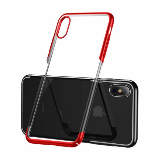 Baseus Glitter Piros PC (műanyag) tok, iPhone X/Xs